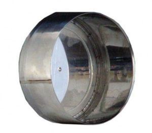 Deksel t.b.v. T-stuk EK 130 RVS 316L