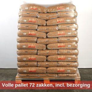 Volle pallet pellets 72 zakken inclusief bezorging