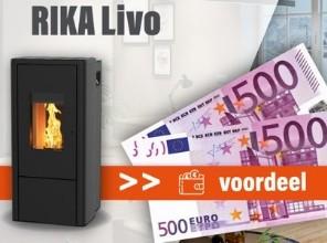 €500,- korting op de RIKA Livo pelletkachel