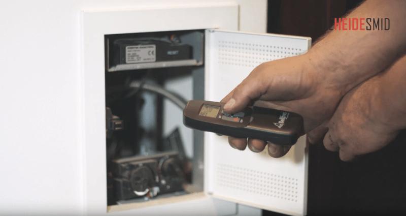 Batterijen vervangen van een gashaard