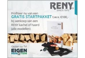 Gratis startpakket t.w.v. €100,- bij Reny kachel