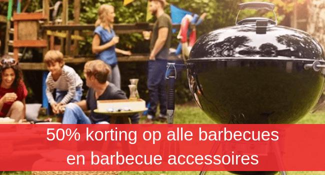 50% korting barbecues en accessoires