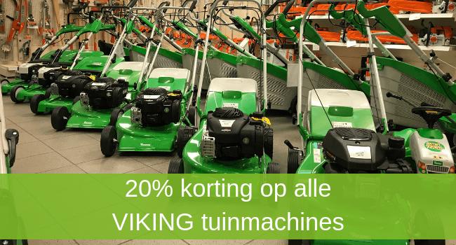 20% korting op alle VIKING tuinmachines