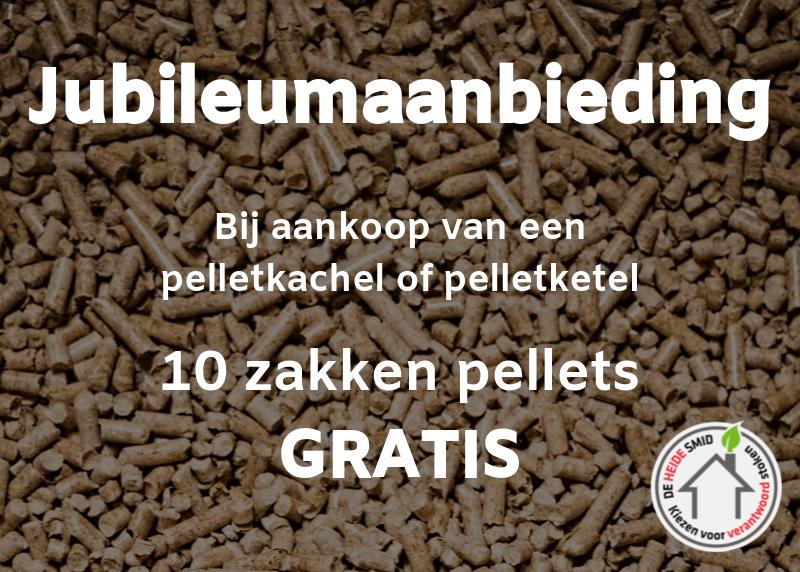 Jubileumaanbieding 10 zakken pellets gratis